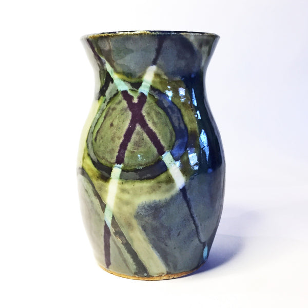 "Vase ""Calculus"" Intricately Designed using Multiple Beautiful Glazes!"