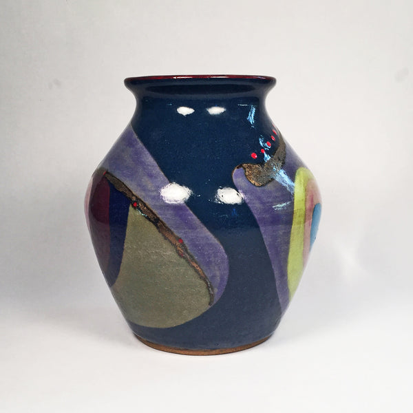Unique Ceramic Vase/Decorative Home Accessory/Elegant Swirls of Color!