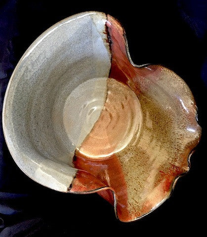 "Ceramic Wave Bowl ""Copper Tide"""