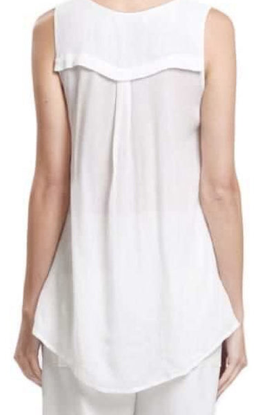 White Sleeveless top - ShopSplice - 2
