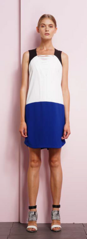 Color Block Dress - ShopSplice