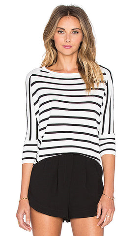 Striped Dolman Top - ShopSplice - 1
