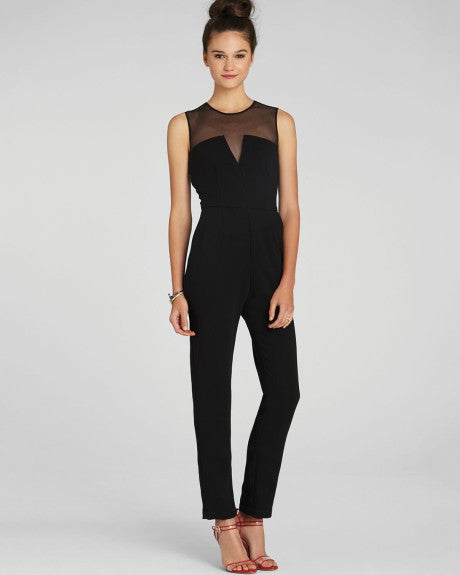 Black Sheer Jumpsuit - ShopSplice - 1