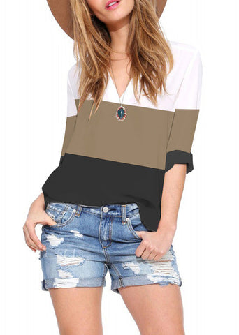 Color Block Shirt - ShopSplice - 1
