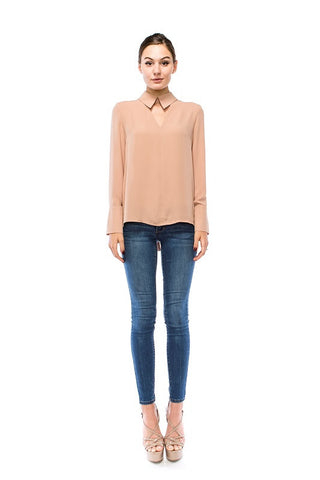 Double Collar Top - ShopSplice