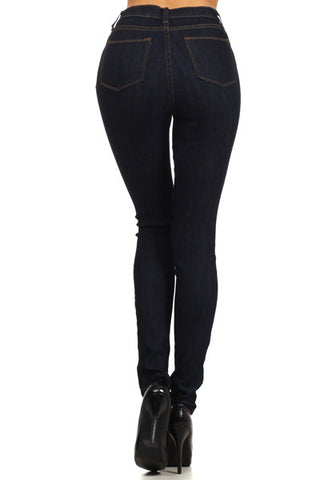 High Waist Skinny - Denim - ShopSplice - 1