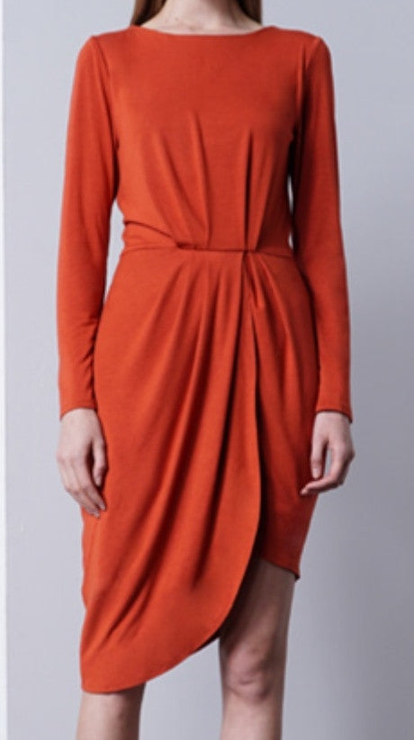 Mock Wrap Dress - ShopSplice