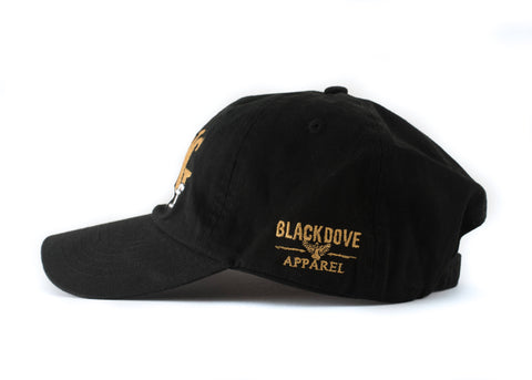Black/Gold 'Living Proof' Dad Hat