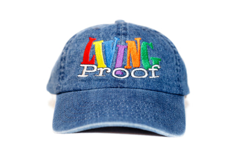 Denim 'Living Proof' Dad Cap