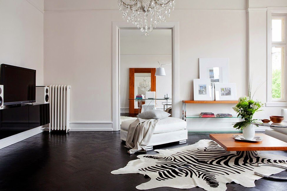 Outsourcesol-Zebra-Rug-Interior-Contemporary-Home-Living-Room