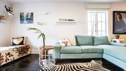 Heather Du Plessis Allan zebra rug