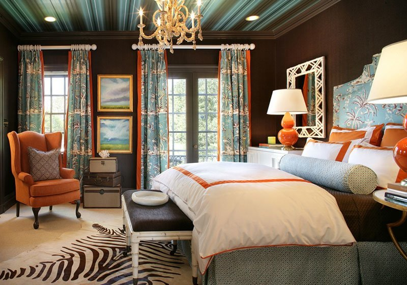 zebra-rug-victorian-design-style-bedroom