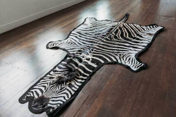 Grade A felted zebra rug - OutSourcesol