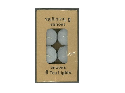 Unscented 9hr Tealight (Pack of 8)