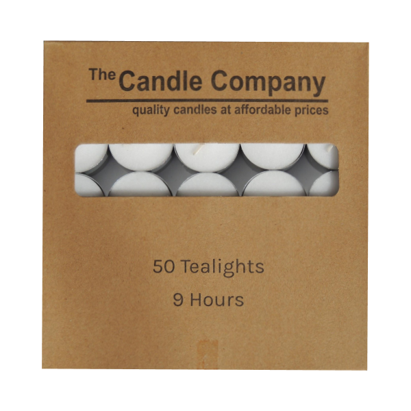 9hr Tealights - Carton Lot (10 Packs of 50)