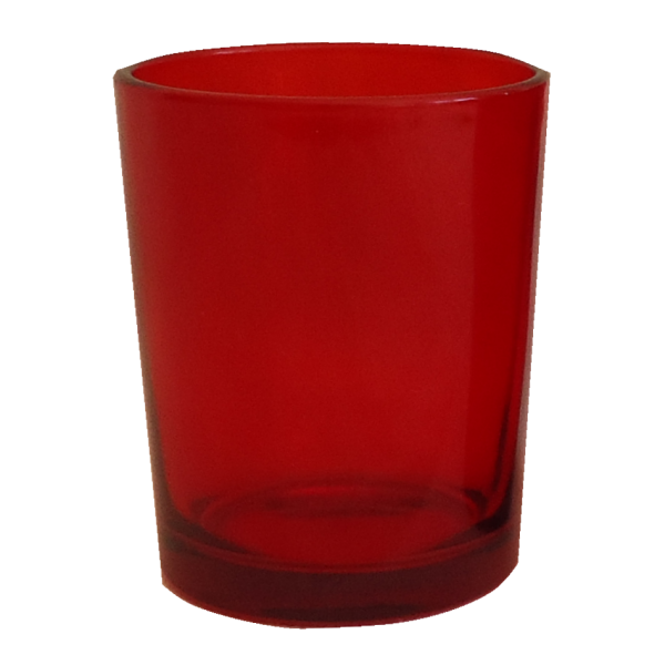 Red Glass Votive Holder SS
