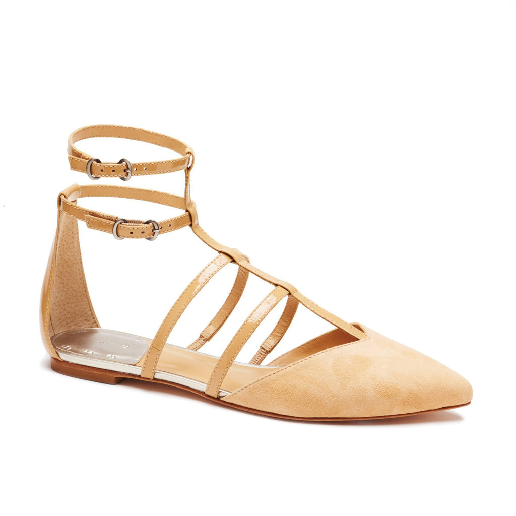 """Trista"" Sweetheart Strappy Pointy Ballet"