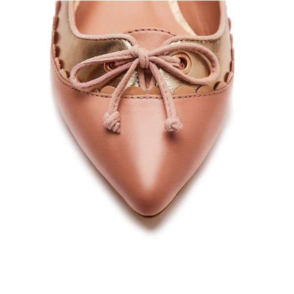 """Addy"" Pointy Toe Scalloped Ballet Flat"