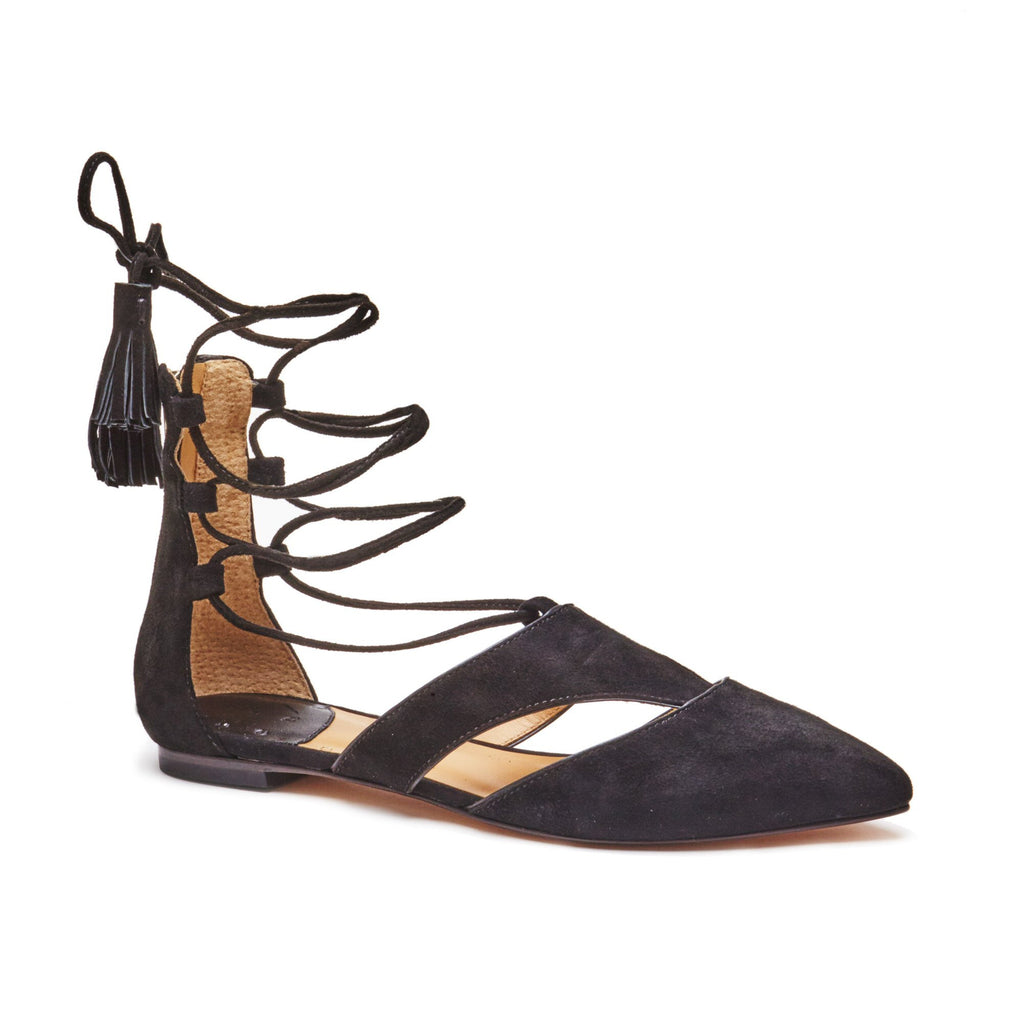 """Claire"" Ankle Lace Up Pointed Ballet"