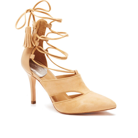 """Alex"" Lace Up Pointed Toe Pump"