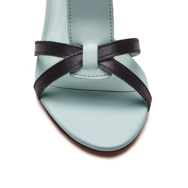 """Sakura"" Mixed Media Wide T-Strap Sandal"