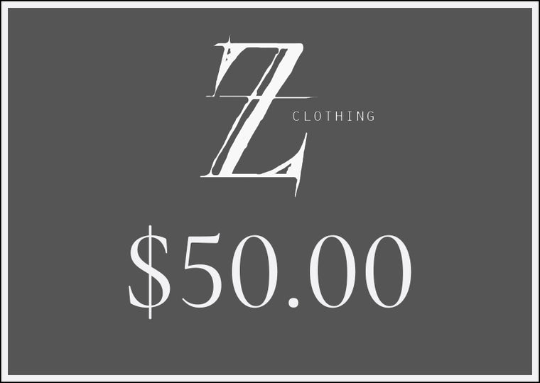 $50.00 Z Clothing Gift Voucher