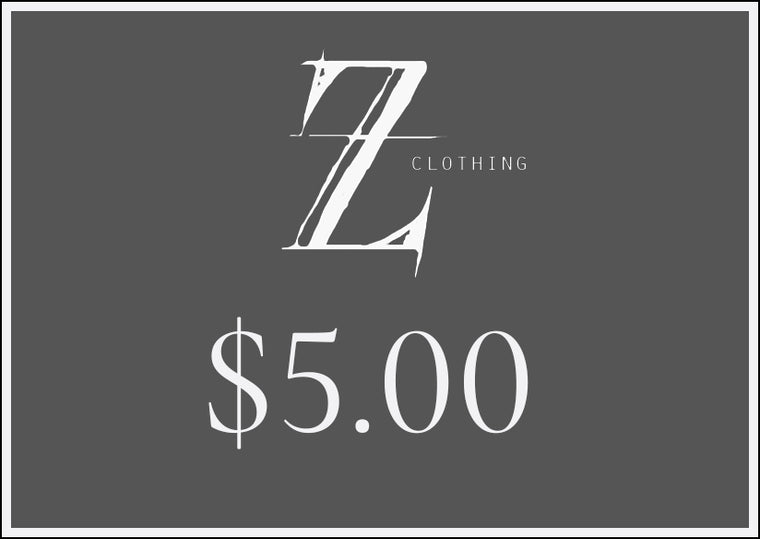 $5.00 Z Clothing Gift Voucher