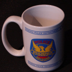 Phoenix Police Patch Coffee Cup