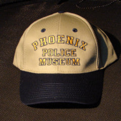 Baseball Hat Museum Tan and Blue