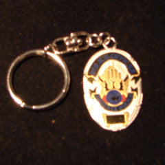 Mini Police Badge Key Chain