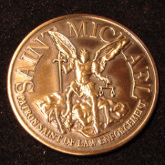 "Saint Michael ""Officer's Prayer"" Challenge Coins"