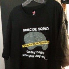 Police Department Homicide Squad T-Shirt