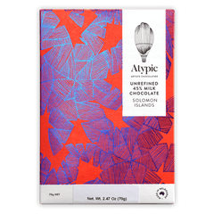 Atypic Solomon Islands Unrefined Milk Chocolate 45%