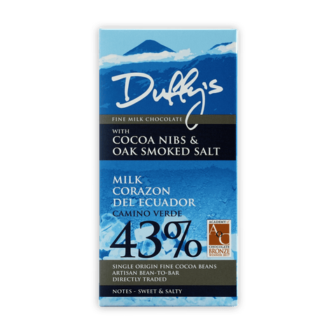 Duffy's Ecuador Milk Nibs w/ Smoked Salt 43%