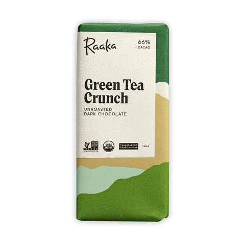 Raaka Green Tea Crunch 66%