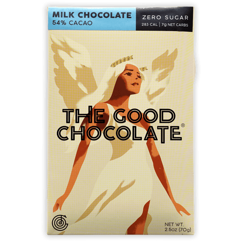 The Good Chocolate Dark Milk 54% (Zero Sugar)