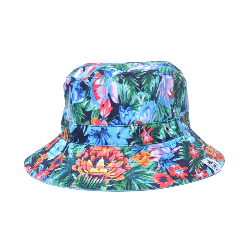 Tropical Bucket Hat (Blue) - HEADSTER KIDS