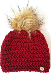 Mary Jane Faux Fur Pom Hat