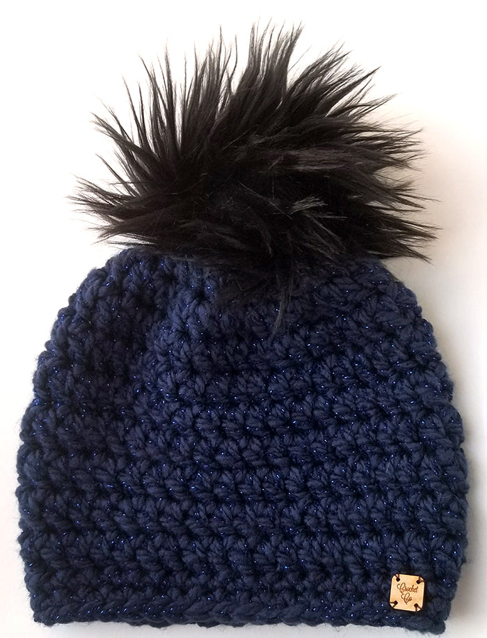*BLACK FRIDAY WEEKEND EXCLUSIVE* Starry Sky Faux Fur Pom Hat