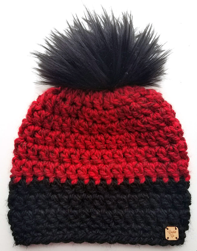 Royal Flush Faux Fur Pom Hat