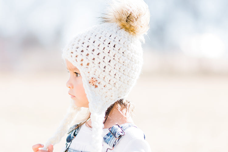 Snow Day Faux Fur Pom Ear Flap Hat