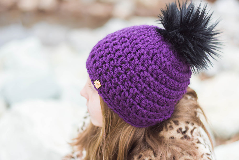 Fig Faux Fur Pom Hat