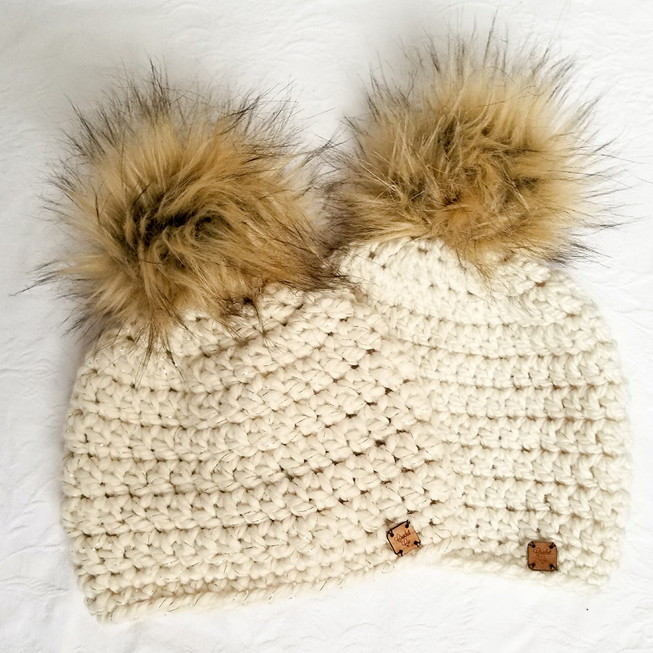 Alpine Faux Fur Pom Hat
