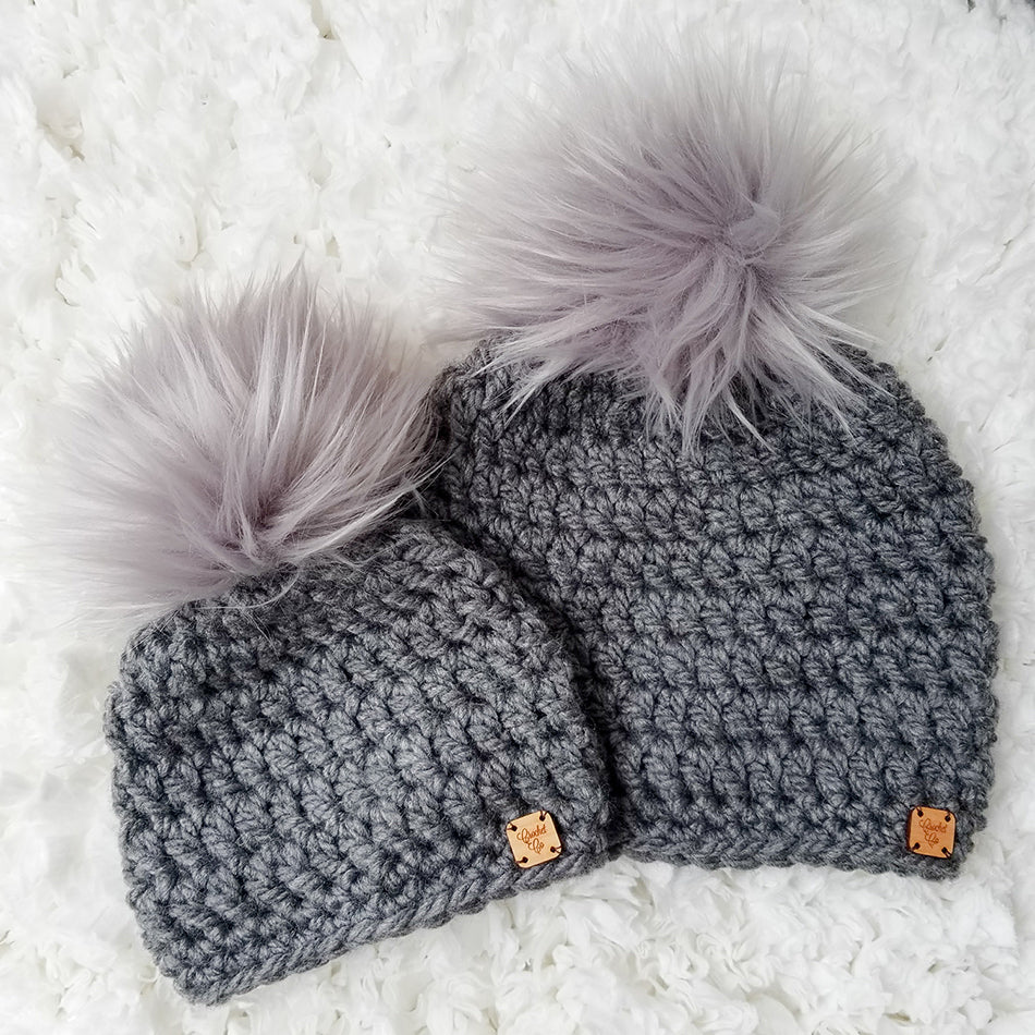 Harbor Fog Faux Fur Pom Hat
