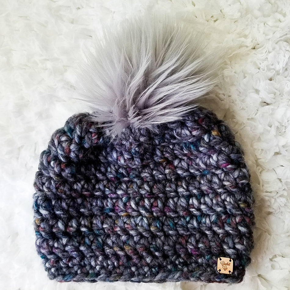 Abalone Faux Fur Pom Mommy and Me Set