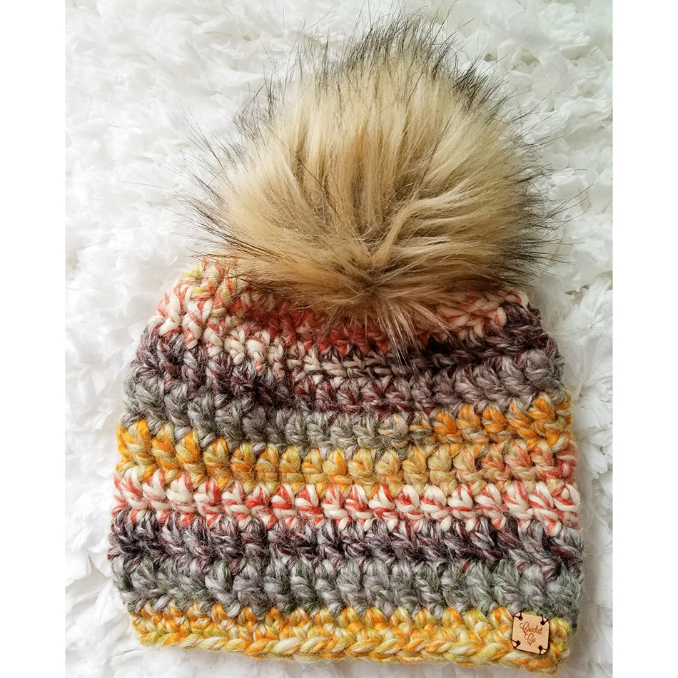 Woodlands Faux Fur Pom Hat