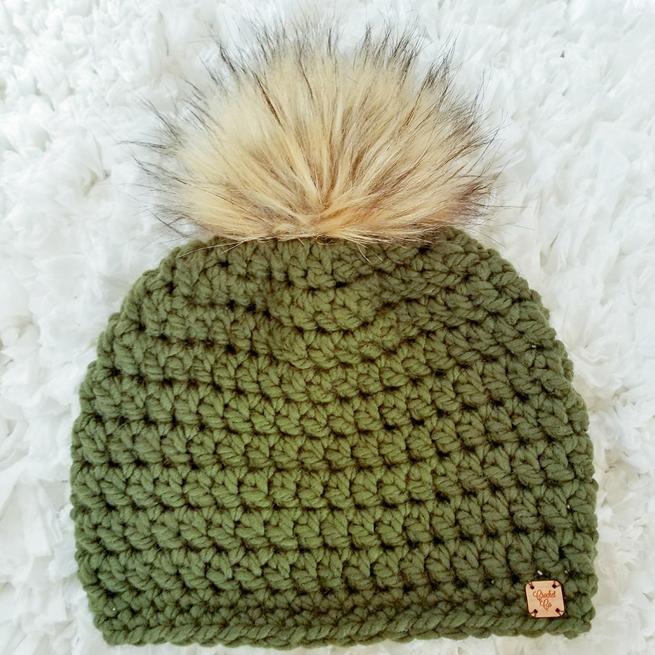 Hunter Faux Fur Pom Hat