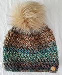 Autumn Leaves Faux Fur Pom Hat
