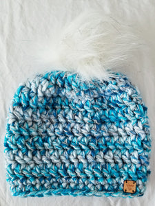 Icy Palace Faux Fur Pom Hat