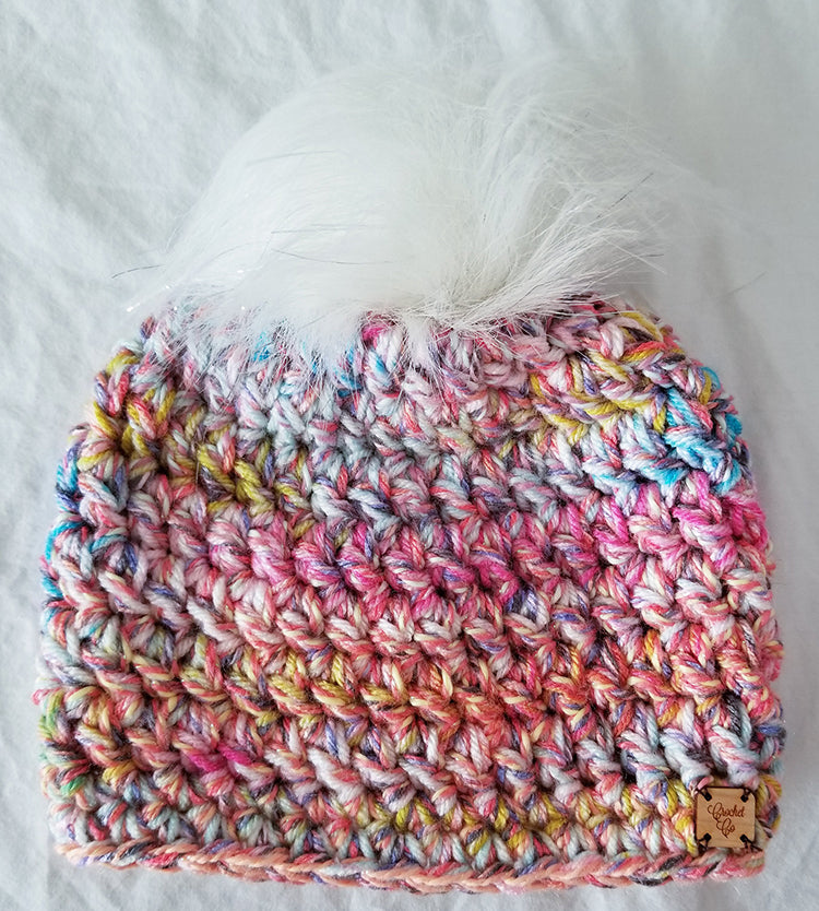 County Fair Faux Fur Pom Hat